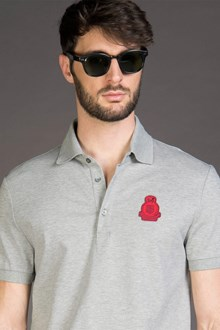 Ballantyne PIQUET POLO SHIRT WITH PATCH IN GREY
