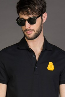 Ballantyne PIQUET POLO SHIRT WITH PATCH IN BLACK