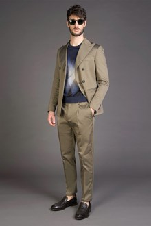 Ballantyne GREEN MUD SLIM FIT TROUSERS WITH DARTS