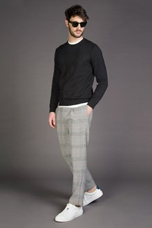 Ballantyne PANTALONE CHECK SLIM FIT CON PINCE