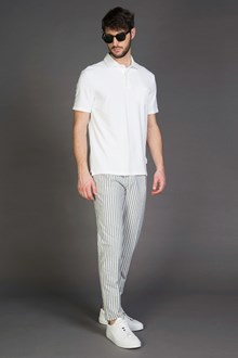 Ballantyne SLIM FIT STRIPED TROUSERS WITH DARTS