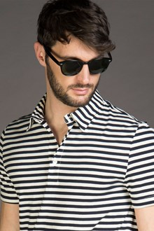Ballantyne STRIPED COTTON JERSEY POLO SHIRT