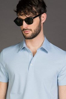 Ballantyne YARN DYED POLO SHIRT IN MAKO COTTON PIQUET