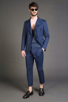 Ballantyne navy black double-breasted jacket