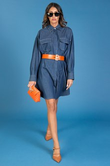 Ballantyne OVERSIZED DENIM SHIRT DRESS