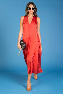 Ballantyne RED ORANGE SATIN DRESS