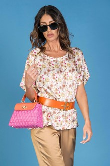 Ballantyne SATIN OVER T-SHIRT WITH FLORAL PRINT