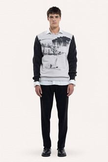 Ballantyne CASHMERE SLEEVED SWEATSHIRT