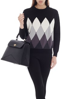 Ballantyne Cotton and cashmere sweater with diamond intarsia