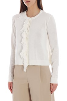 Ballantyne Cardigan color crema con rouches