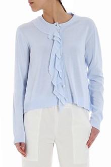 Ballantyne Light-blue ruffle cardigan