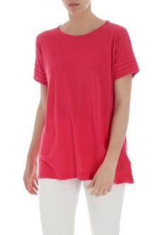 Ballantyne Fuchsia silk and linen T-shirt