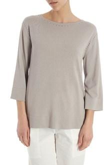 Ballantyne Taupe pierced sweater
