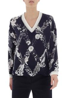 Ballantyne Floral printed silk blouse