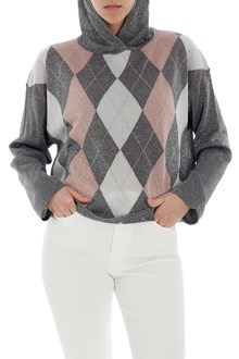 Ballantyne pullover hoodie with argyle pattern