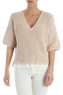 Ballantyne Pullover con bordi in sangallo