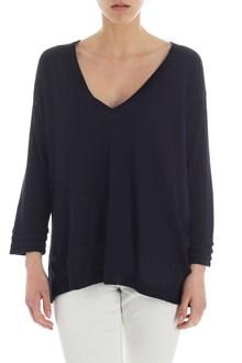 Ballantyne Blue linen and silk pullover