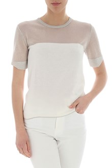 Ballantyne White knitted top