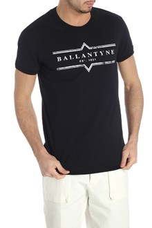 Ballantyne T-shirt nera stampa logo
