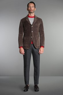 Ballantyne Brown jaquard knitted tailored jacket