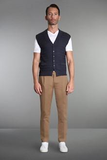 Ballantyne Diamond stitching grey vest