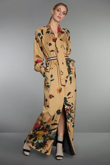 Ballantyne Floral printed silk twill dress