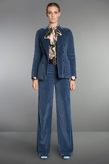 Ballantyne Blue velvet palazzo trousers