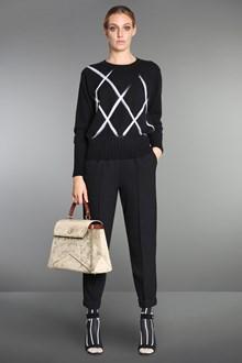 Ballantyne Diamond pullover with needled argyle pattern