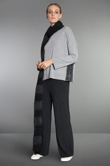 Ballantyne Grey wool and lurex pullover