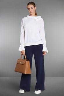 Ballantyne Virgin wool blouse with gathered collar