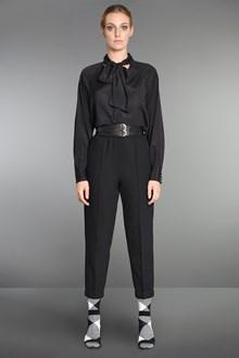 Ballantyne Black wool crêpe cigarette trousers