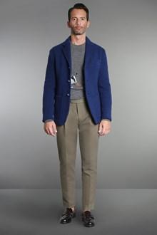 Ballantyne Blue shetland wool knitted tailored jacket