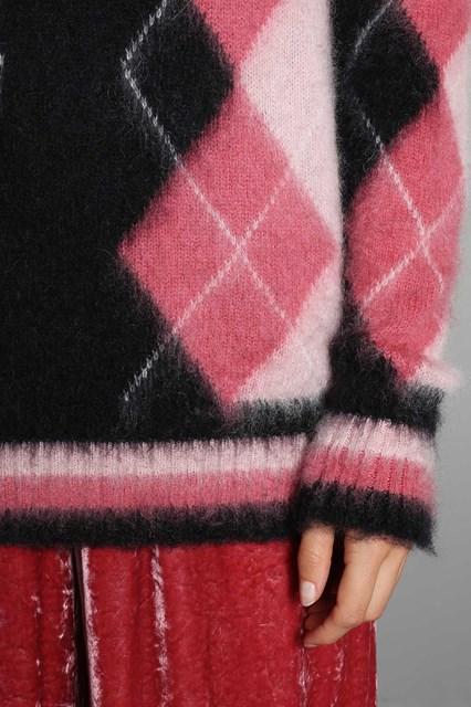 Ballantyne Pullover in mohair con intarsio argyle