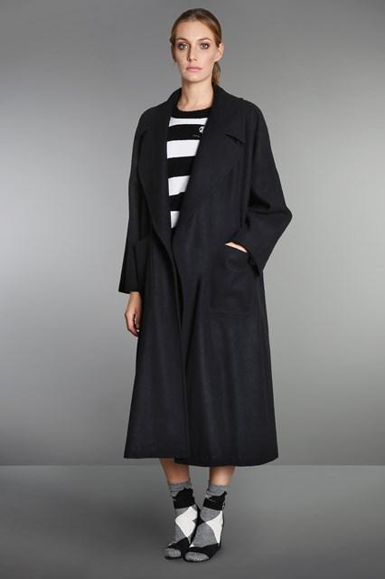 Ballantyne Cappotto vestaglia over in panno di lana cashmere