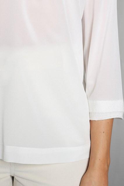 Ballantyne Blusa in crepe di seta bianca