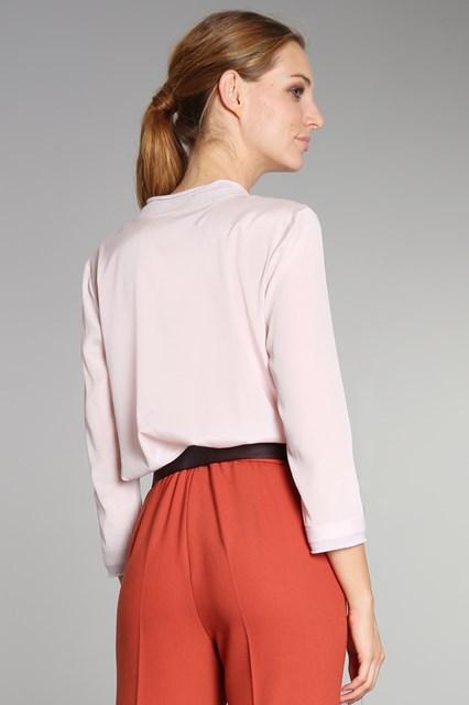Ballantyne Blusa in crepe di seta rosa