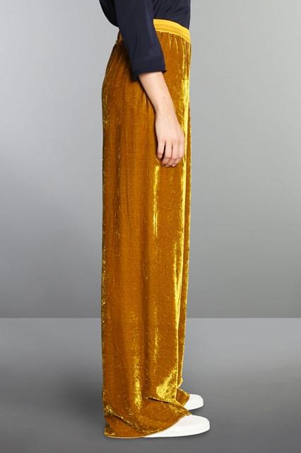Ballantyne Pantalone dritto in velluto di seta