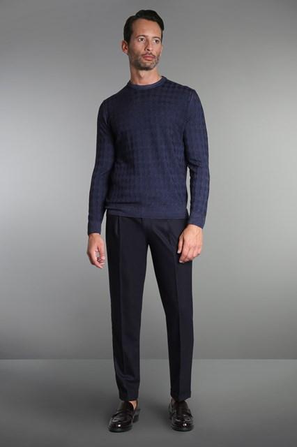 Ballantyne Merinos wool dimond knitted pullover