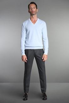 Ballantyne Pullover in cashmere azzurro