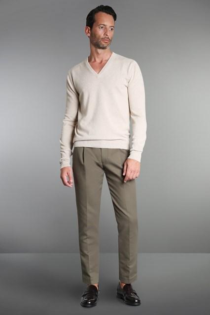 Ballantyne Pullover in cashmere beige melange
