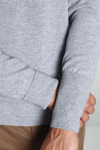 Ballantyne Grey cashmere sweater