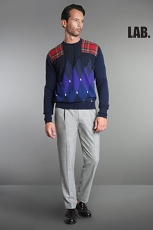 Ballantyne Classic diamond and tartan Lab pullover