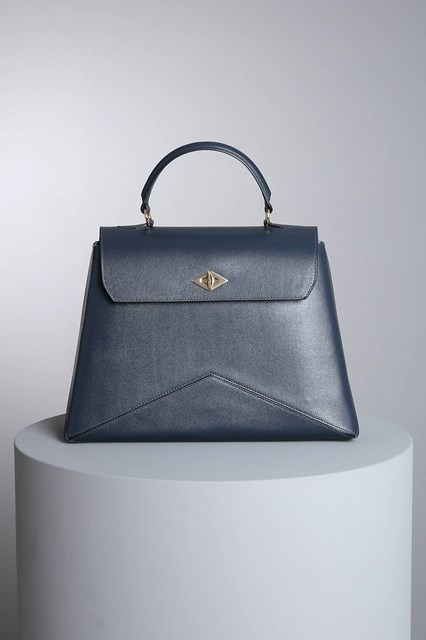 "Ballantyne Navy blue ""Diamond"" bag"