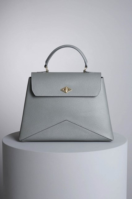 "Ballantyne ""Diamond"" steel-colored bag"