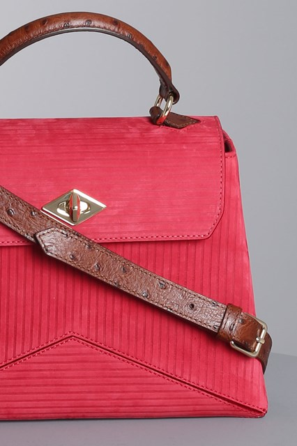 "Ballantyne ""Diamond"" burgundy nubuck bag"