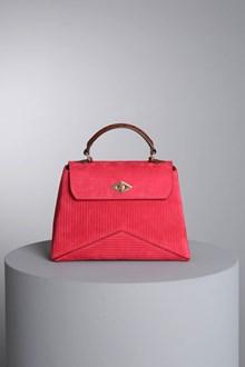"""Ballantyne """"Diamond"""" burgundy nubuck bag"""
