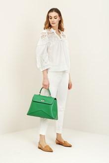 Ballantyne Cotton blouse with crochet inserts