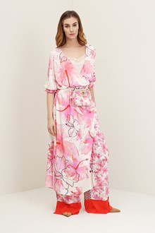 Ballantyne Long dress with hibiscus floral pattern