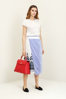 Ballantyne Pleated skirt with blue print