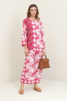 Ballantyne Pink jaquard foulard sweater